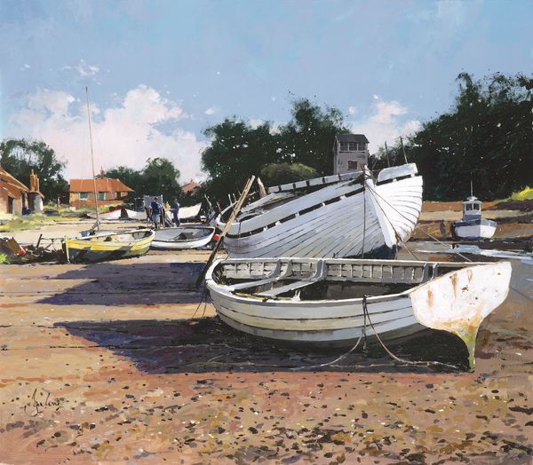 Old Boats At Brancaster - Paper 25 x 30cm