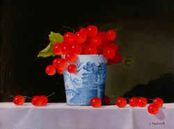 Redcurrants in Blue & White