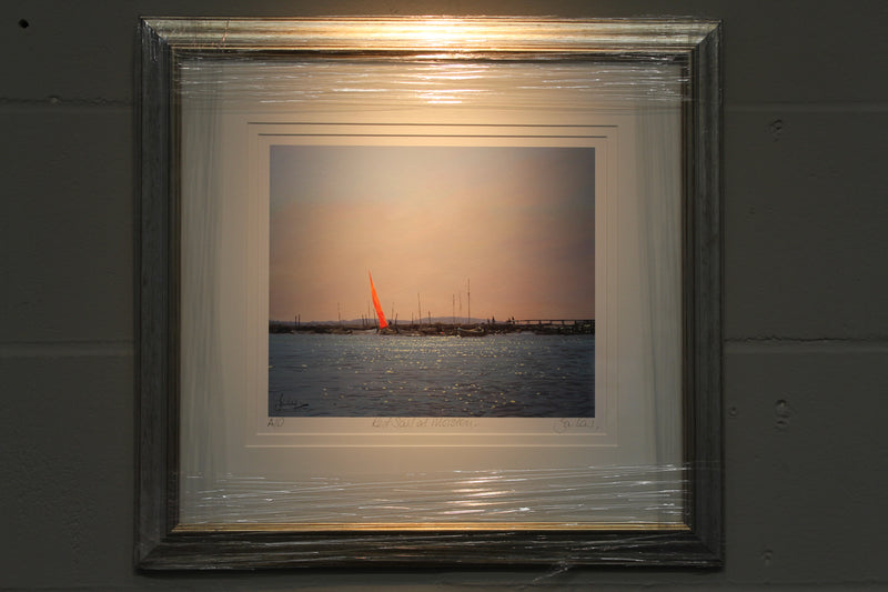 Red Sail At Morston, Summertime - Paper 25 x 30cm