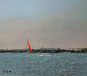 Red Sail At Morston Summertime