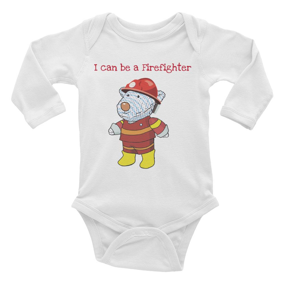 Baby Body - Baby Body Long Sleeve - Joseph Firefighter - Philippians 4:13