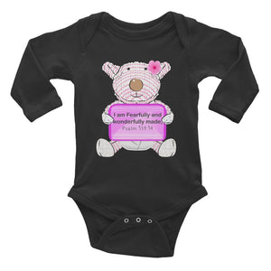 Baby Body - Baby Body Long Sleeve - Joy - I Am Fearfully And Wonderfully Made