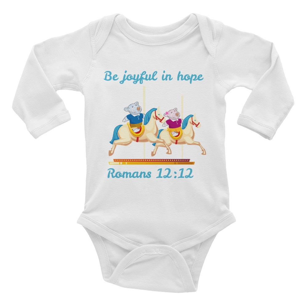 Baby Body - Baby Body Long Sleeve - Joy & Joseph Carousel - Romans 12:12