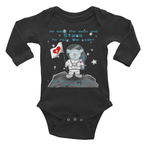 Baby Body Long Sleeve - Baby Body Long Sleeve - Joseph Astronaut - Psalm 136:9
