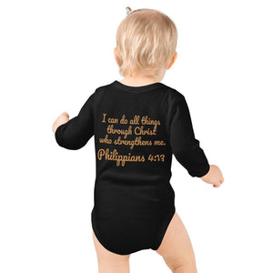 Baby Body Long Sleeve - Baby Body Long Sleeve - Joseph Pilot - Philippians 4:13