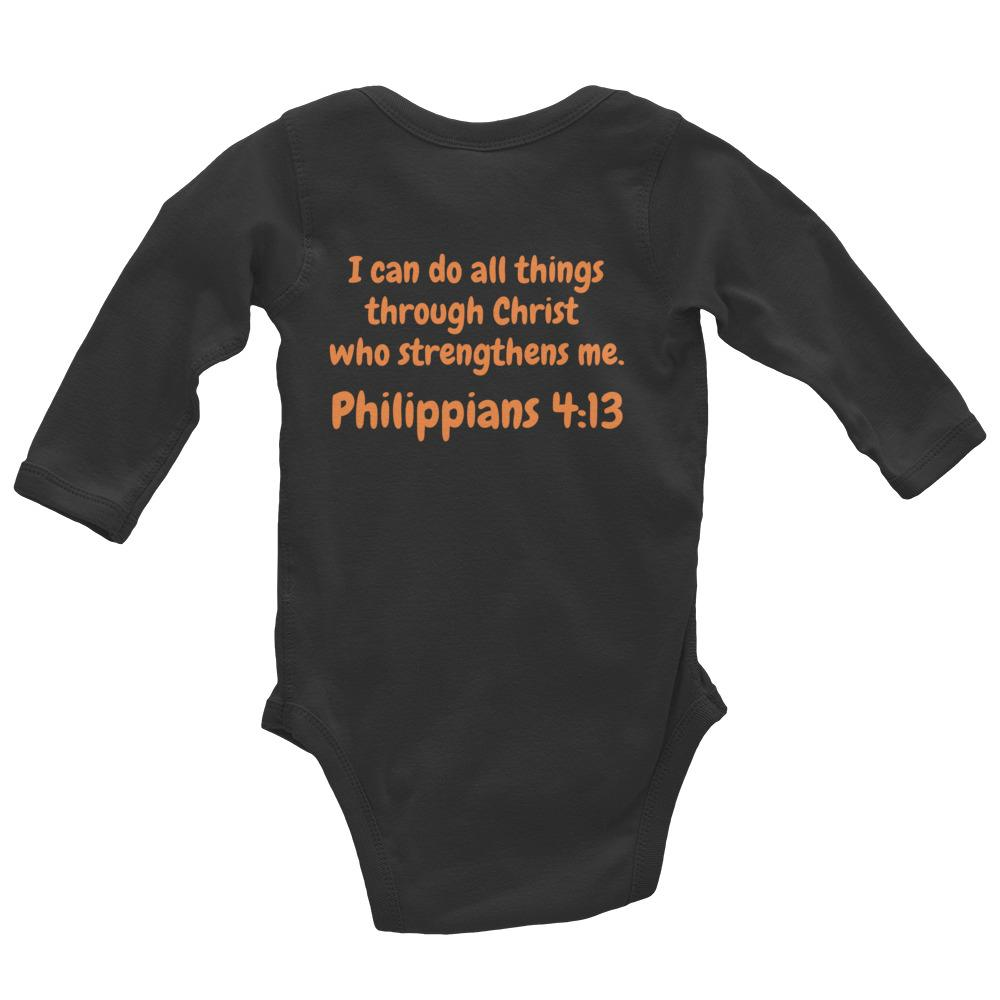 Baby Body Long Sleeve - Baby Body Long Sleeve - Joseph Tennis Player - Philippians 4:13