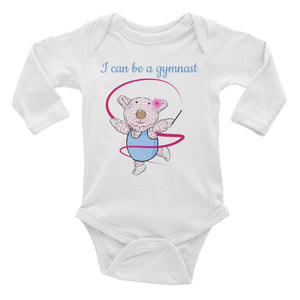 Baby Body Long Sleeve - Baby Body Long Sleeve - Joy Gymnast 6-18M