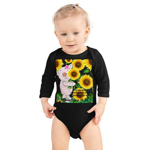 Baby Body Long Sleeve - Baby Body Long Sleeve - Joy Sunflower - 1 Corinthians 16:13