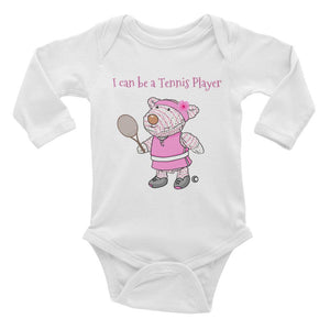 Baby Body Long Sleeve - Baby Body Long Sleeve - Joy Tennis Player 6-18M