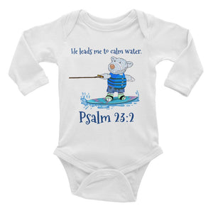 Baby Body Long Sleeve - Baby Body Long Sleeve - Wakeboard Joseph - Psalm 23:2
