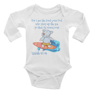 Baby Body Long Sleeve - Baby Bodysuit Long Sleeve - Joseph Surfer