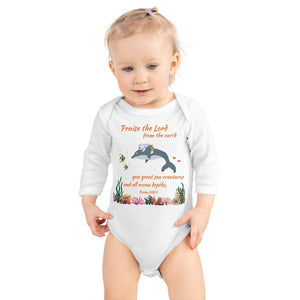 Baby Body Long Sleeve - Baby Bodysuit Long Sleeve - Joseph - The Sea - Psalm 148:7