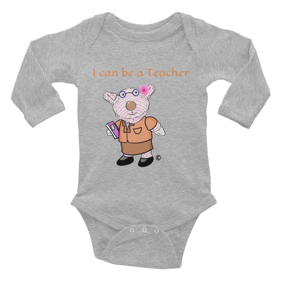 Baby Body Long Sleeve - Baby Long Sleeve Bodysuit - Joy Teacher 6-18M