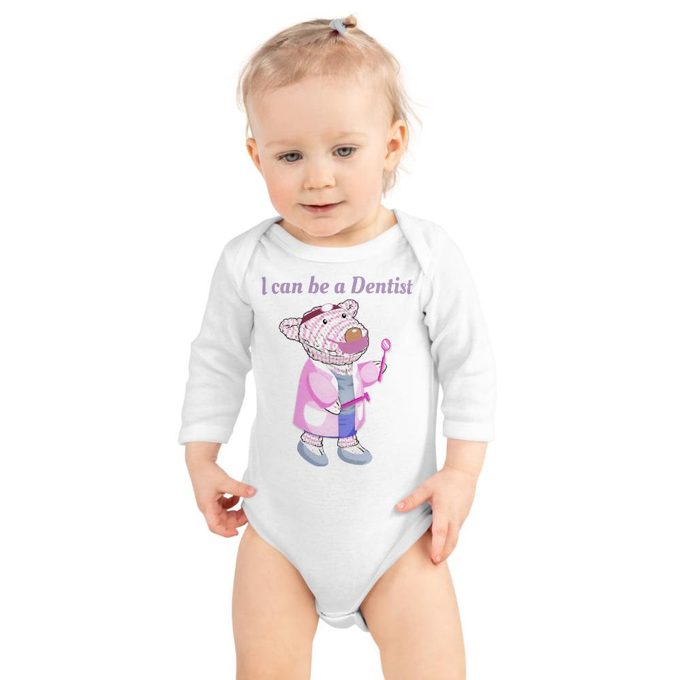 Baby Body Long Sleeve - Bodysuit Long Sleeve - Joy Dentist - Philippians 4:13