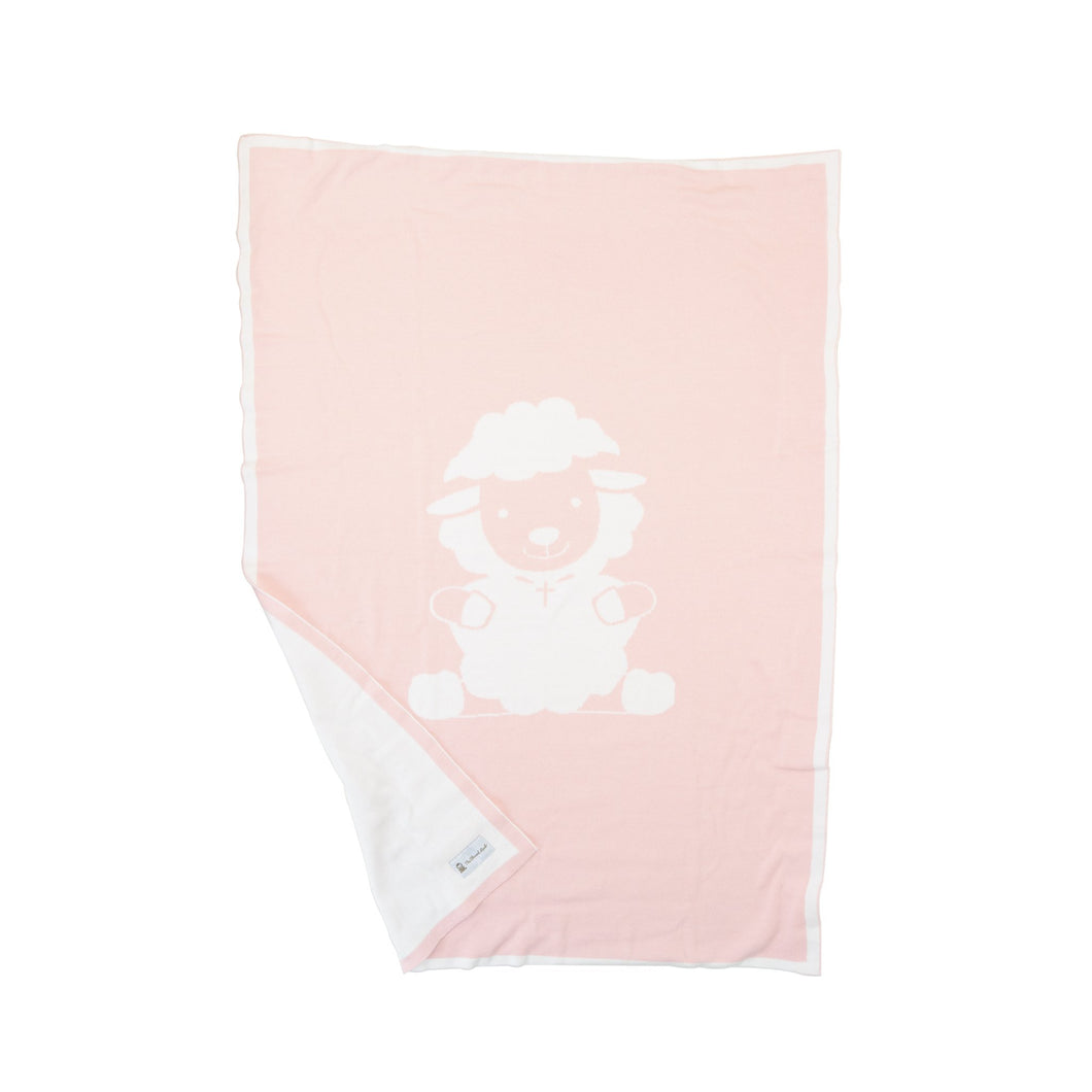 Baby Knit Cover - Knitted Blanket - Joy Pink