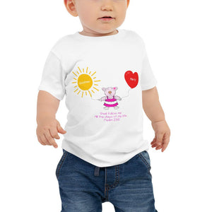 Baby T-Shirt - Baby T-Shirt - Joy Goodness & Mercy - Psaml 23:6