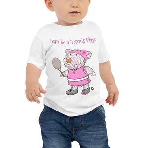 Baby T-Shirt - Baby T-Shirt - Joy Tennis Player - Philippians 4:13