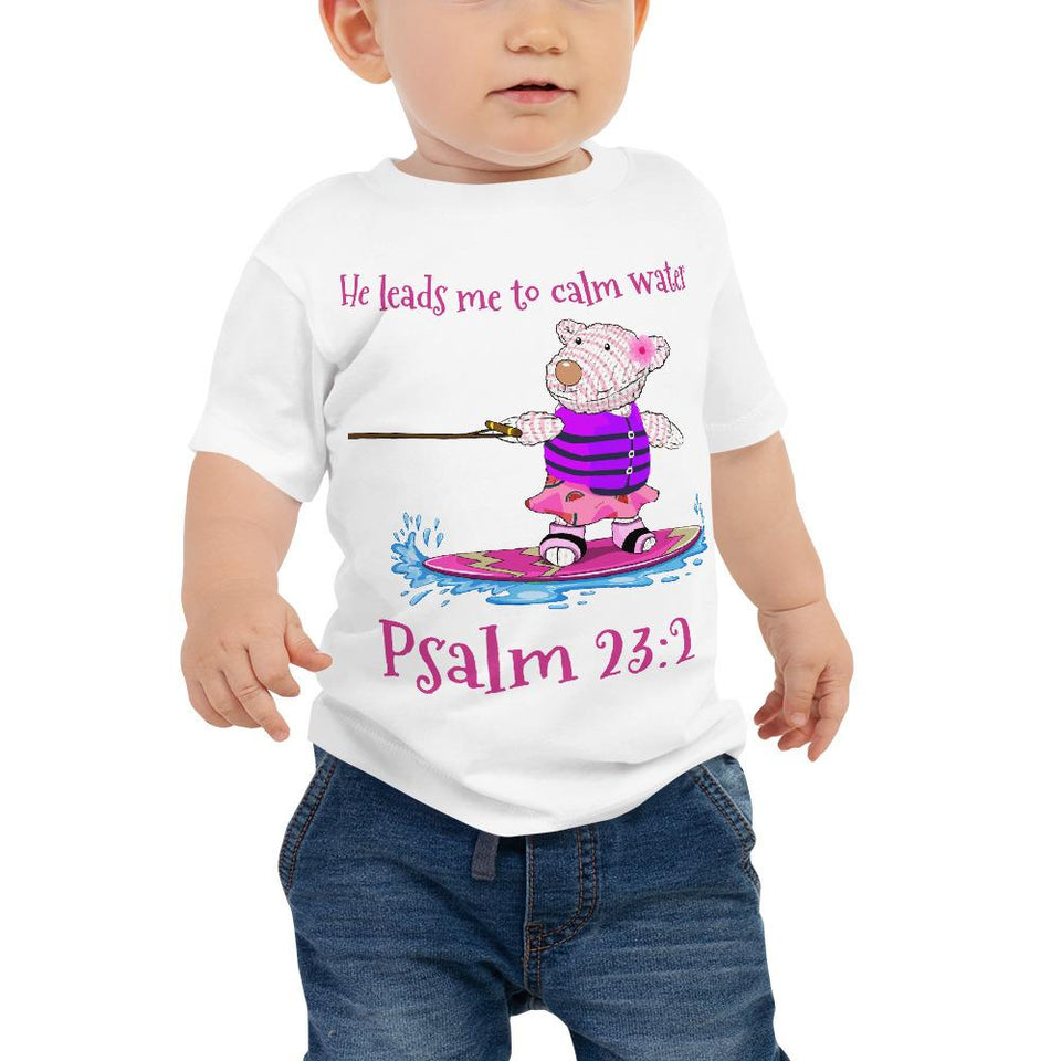 Baby T-Shirt - Baby T-Shirt - Joy Wakeboard - Psalm 23:2