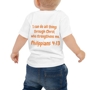 Baby T-Shirt - Baby T-Shirt - Tennis Player - Philippians 4:13