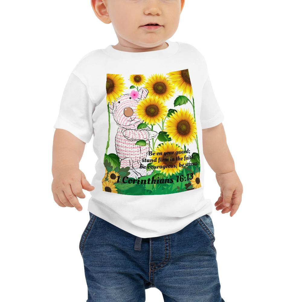 Baby T-shirt - Joy Sunflowers - 1 Corinthians 16:13