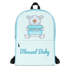 Backpack - Baby Diaper Backpack - Blessed Baby Joseph - Psalm 139