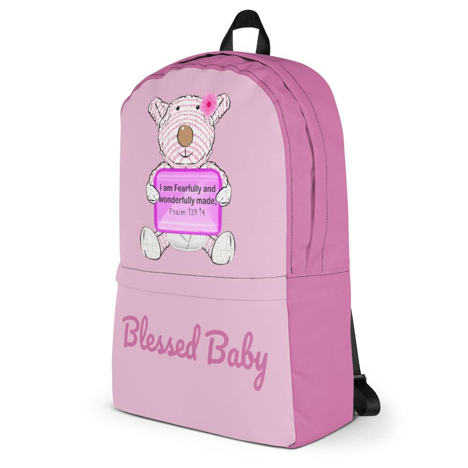 Backpack - Baby Diaper Backpack - Blessed Baby Joy - Psalm 139