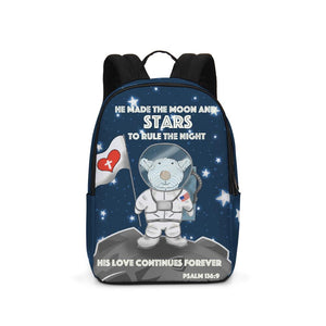 Backpack - Backpack - Joseph Astronaut -Moon And Stars - Psalm 136:9