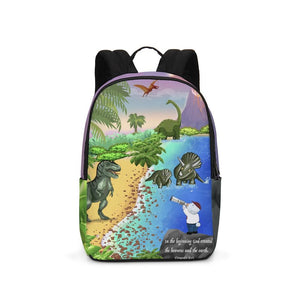 Backpack - Joseph And Dinosaurs - Genesis 1:1 Large Backpack