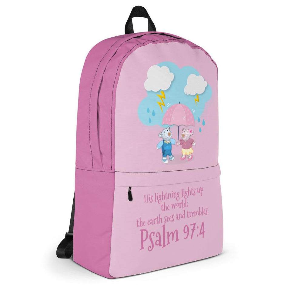Backpack - Rose Backpack - Joy & Joseph Lightning - Psalm 97:4