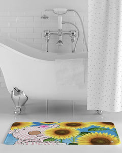 Bath Mat - Bath Mat - Joy Sunflower - 1 Corinthians 16:13  Bath Mat