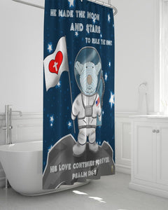 Bathroom - Shower Curtain - Joseph Astronaut  - Psalm 136:9