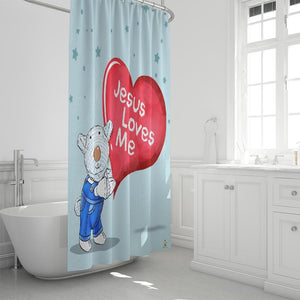 Bathroom - Shower Curtain - Joseph - Jesus Loves Me