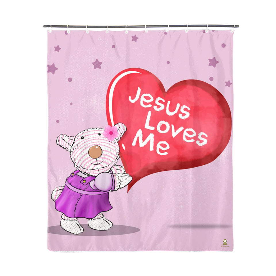 Bathroom - Shower Curtain - Joy - Jesus Loves Me