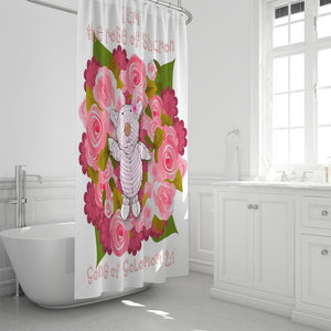 Bathroom - Shower Curtain - Joy Roses - Song Of Solomon 2:1 - White