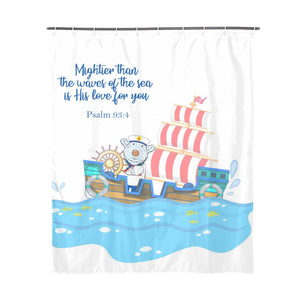 Bathroom - Shower Curtain - Sailor Joseph - Psalm 93:4