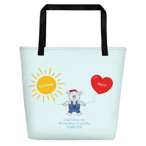 Beach Bag - Bag - Joseph Goodness & Mercy - Psalm