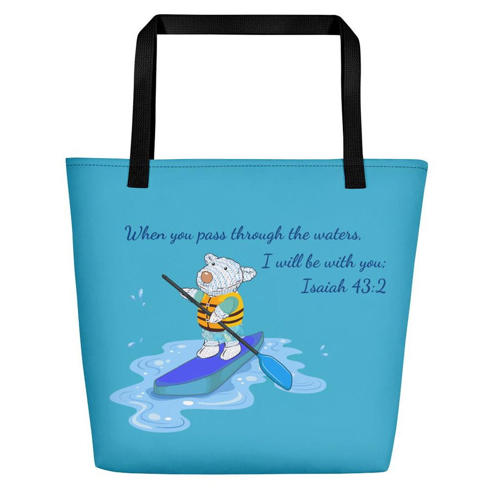 Beach Bag - Bag- Joseph Paddleboard - Isaiah 43:2