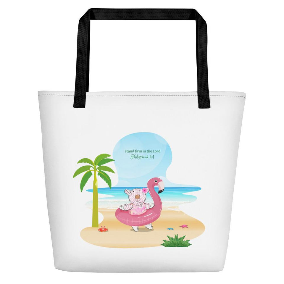 Beach Bag - Bag - Joy Flamingo - Philippians 4:1