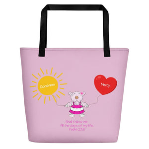 Beach Bag - Bag - Joy Goodness & Mercy - Psalm 23:6