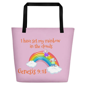 Beach Bag - Bag- Joy & Joseph Rainbow - Genesis 9:13