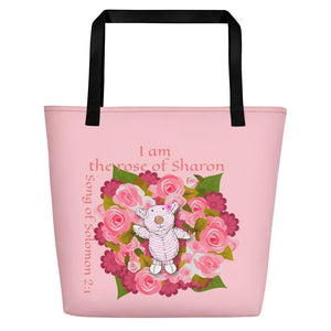 Beach Bag - Bag - Joy Roses - Song Of Solomon 2:1
