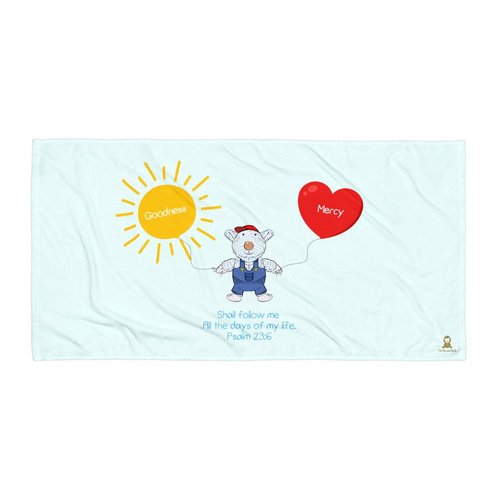 Beach Towel - Towel - Joseph Goodness & Mercy - Psalm 23:6