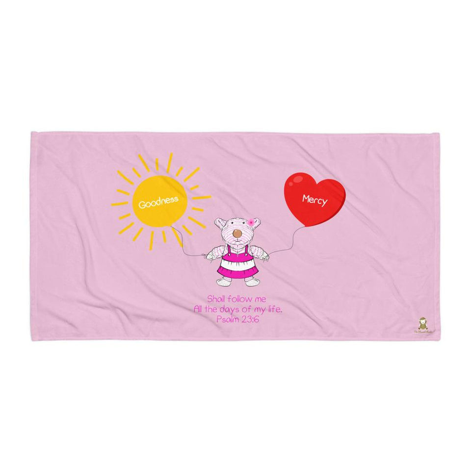 Beach Towel - Towel - Joy Goodness & Mercy - Psalm 23:6