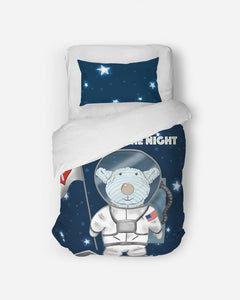 Bedding - Twin Duvet Cover Set - Joseph Astronaut - Psalm 136:9