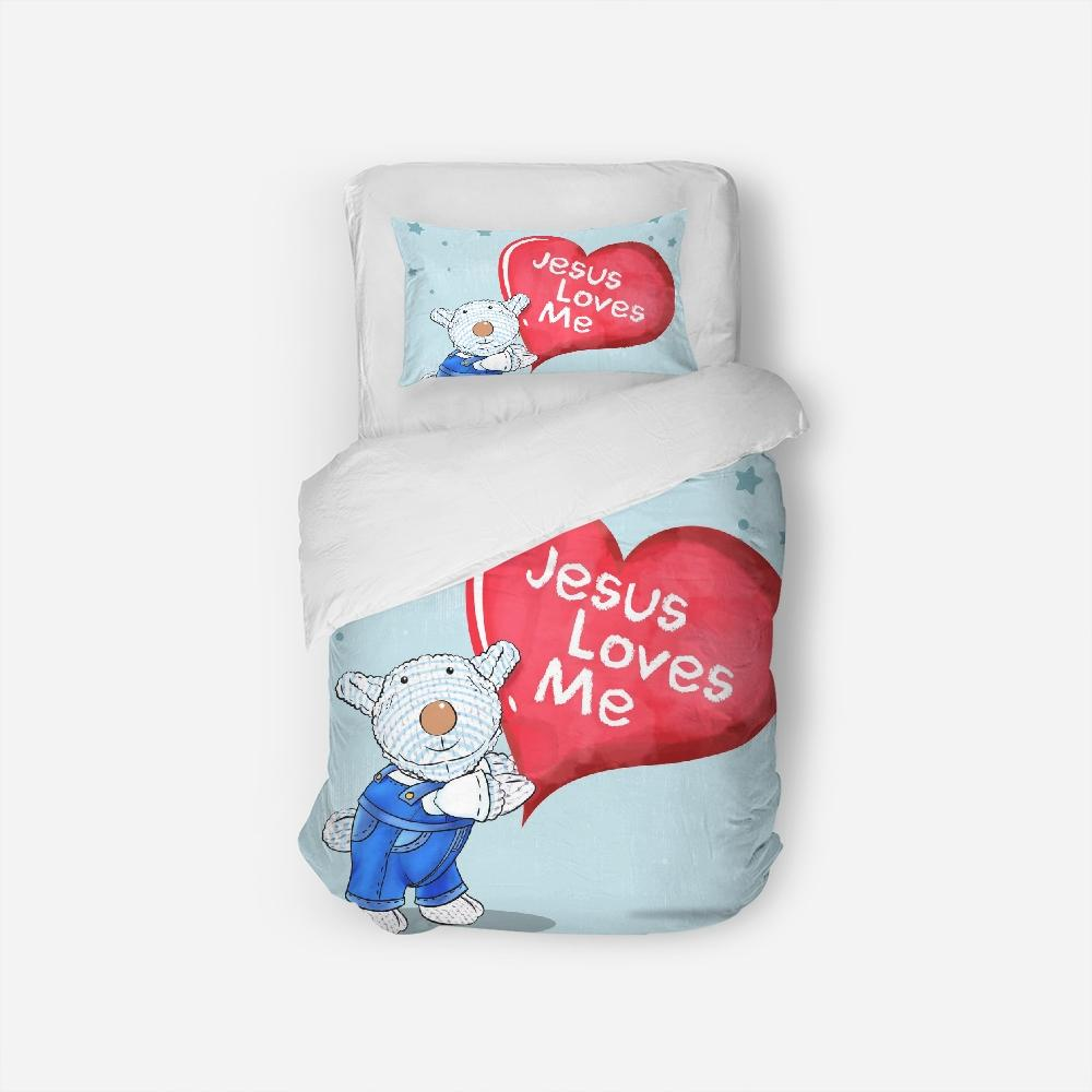 Bedding - Twin Duvet Cover Set - Joseph - Jesus Loves Me