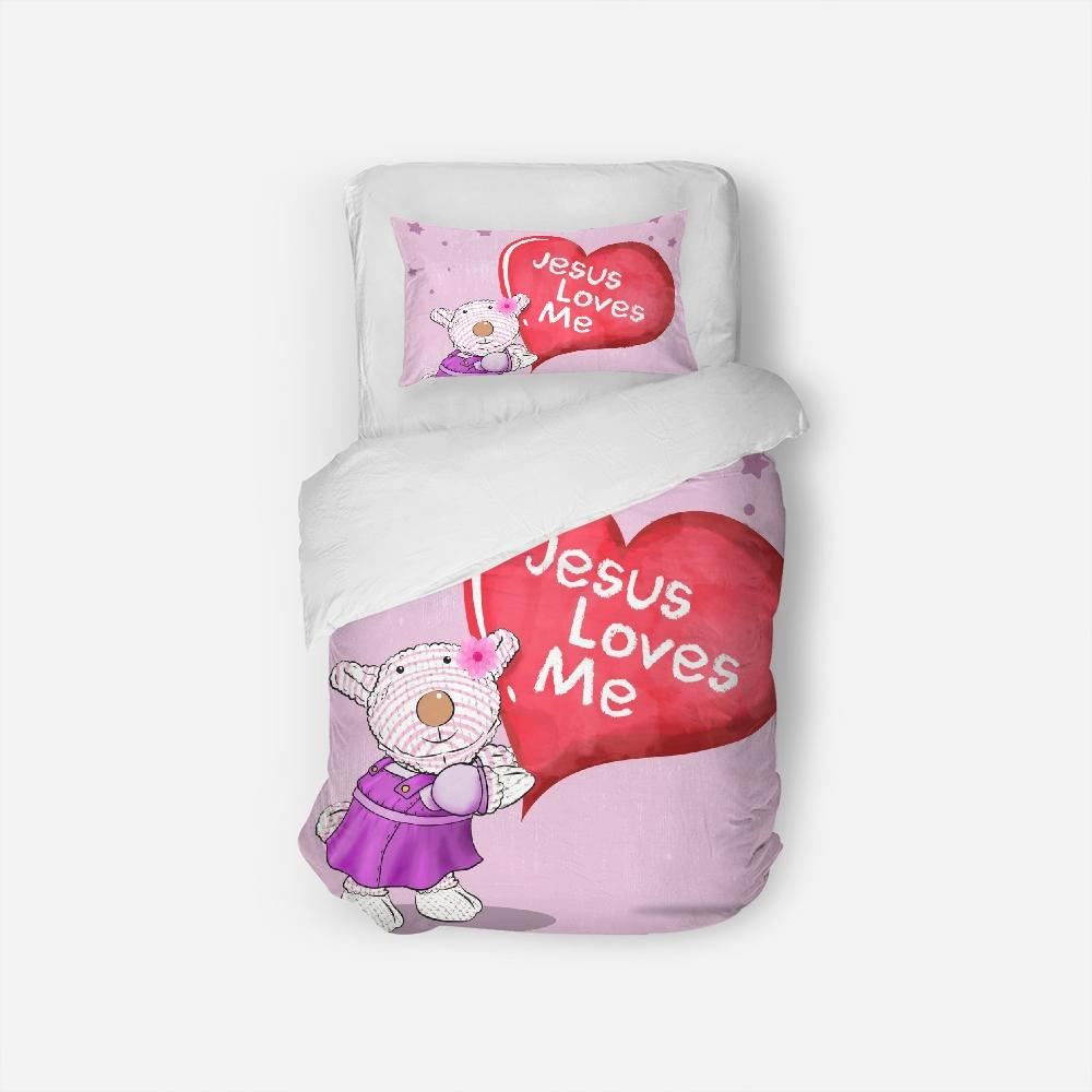 Bedding - Twin Duvet Cover Set - Joy - Jesus Loves Me