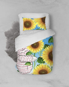 Bedding - Twin Duvet Cover Set - Joy Sunflower - 1 Corinthians 16:13