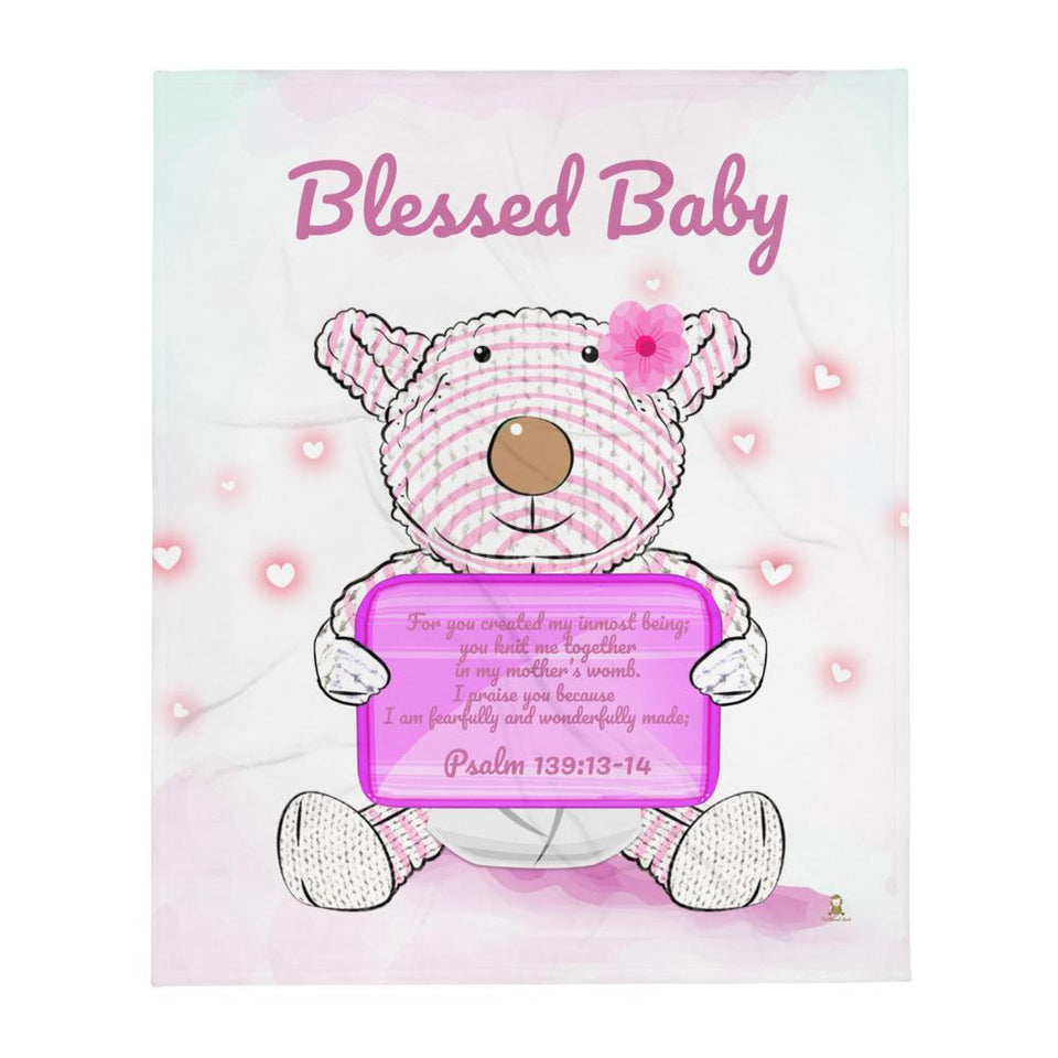 Blanket - Blanket - Blessed Baby Joy - Psalm 139:13-14