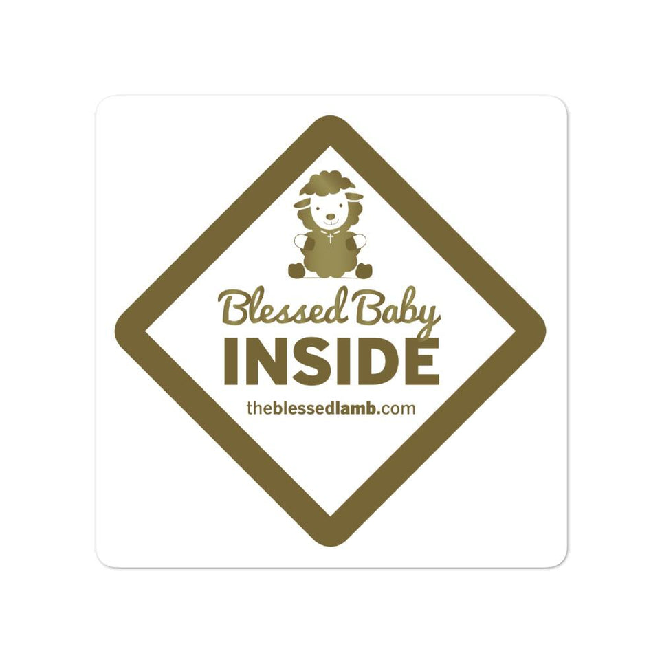 Blessed Baby Inside Sticker