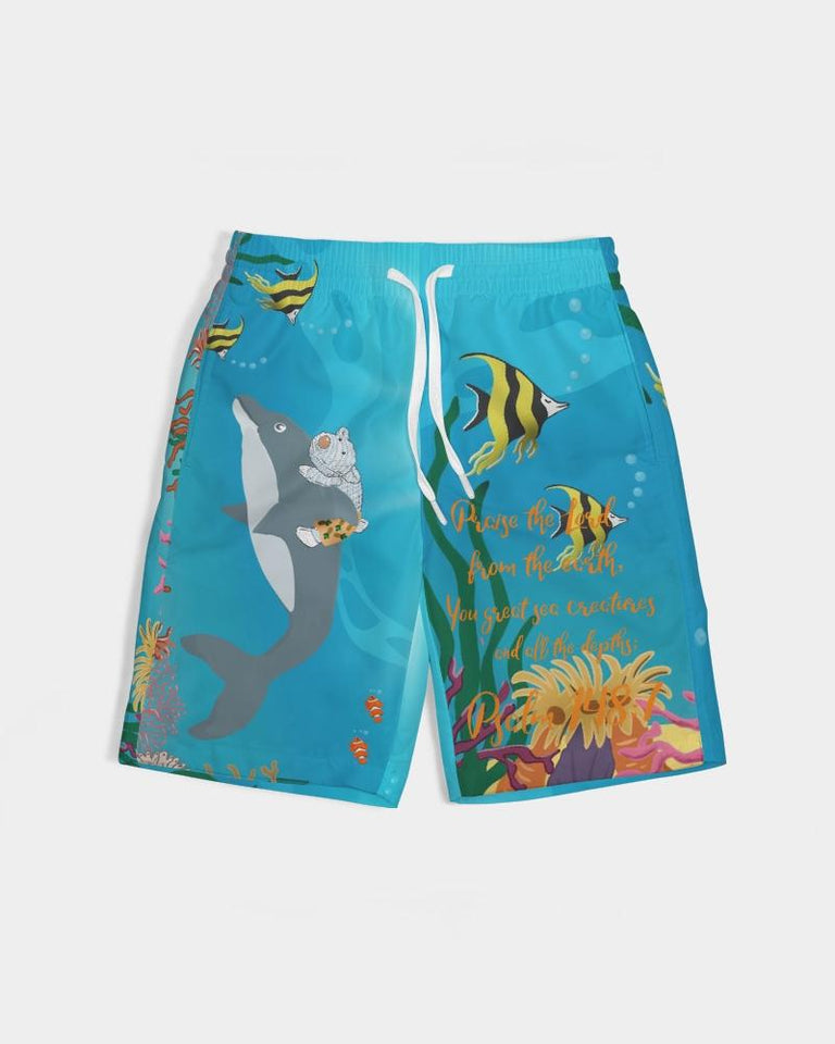 Cloth - Boy's Swim Trunk - The Sea - Psalm 148:7